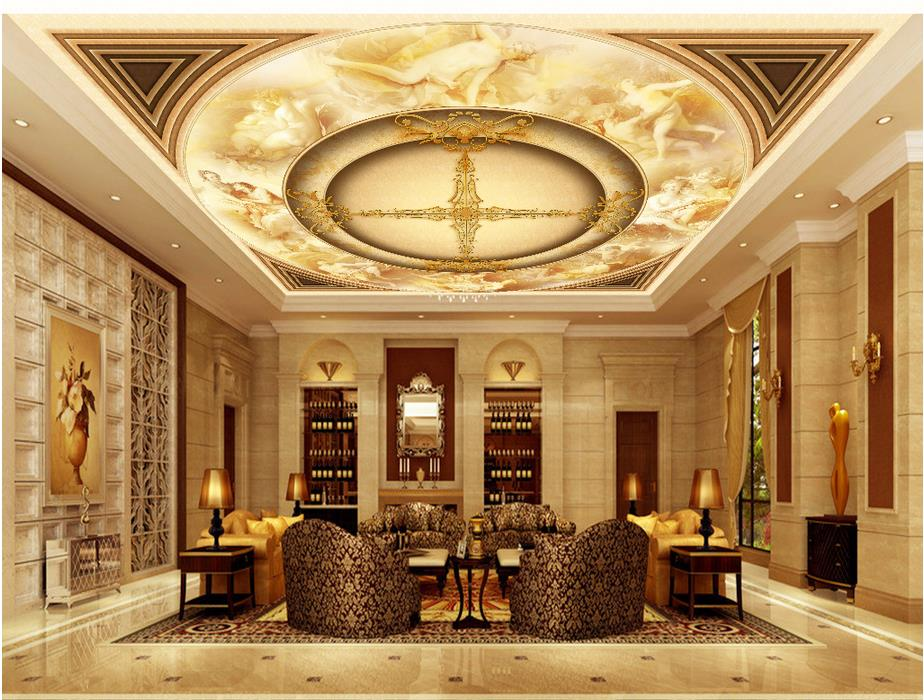 wallpaper 3d ceiling European 3D Angel ceiling frescoes customized wallpaper for walls 3d ceiling murals wallpaper european church square ceiling frescoes murals living room bedroom study paper 3d wallpaper
