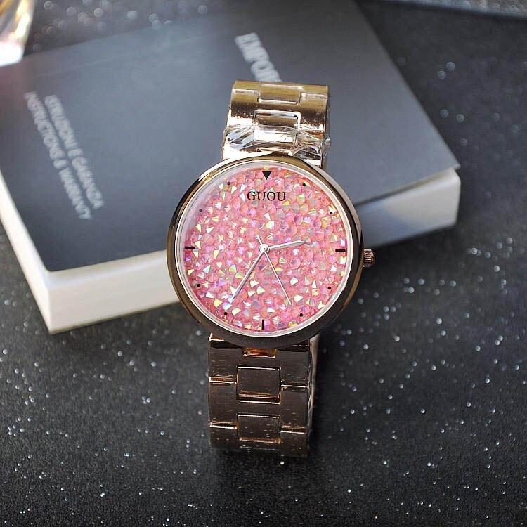 Wristwatches Quartz Watches Waterproof Women s Watch Stainless Steel Bracelet Fashion Personality Full Diamond Wristwatches