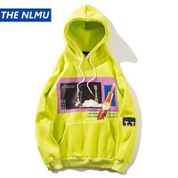 Personality Hoodies Men Sweatshirts Autumn Print Hoodie Hip Hop Skateboard Pullover Streetwears Men Clothing Q0289