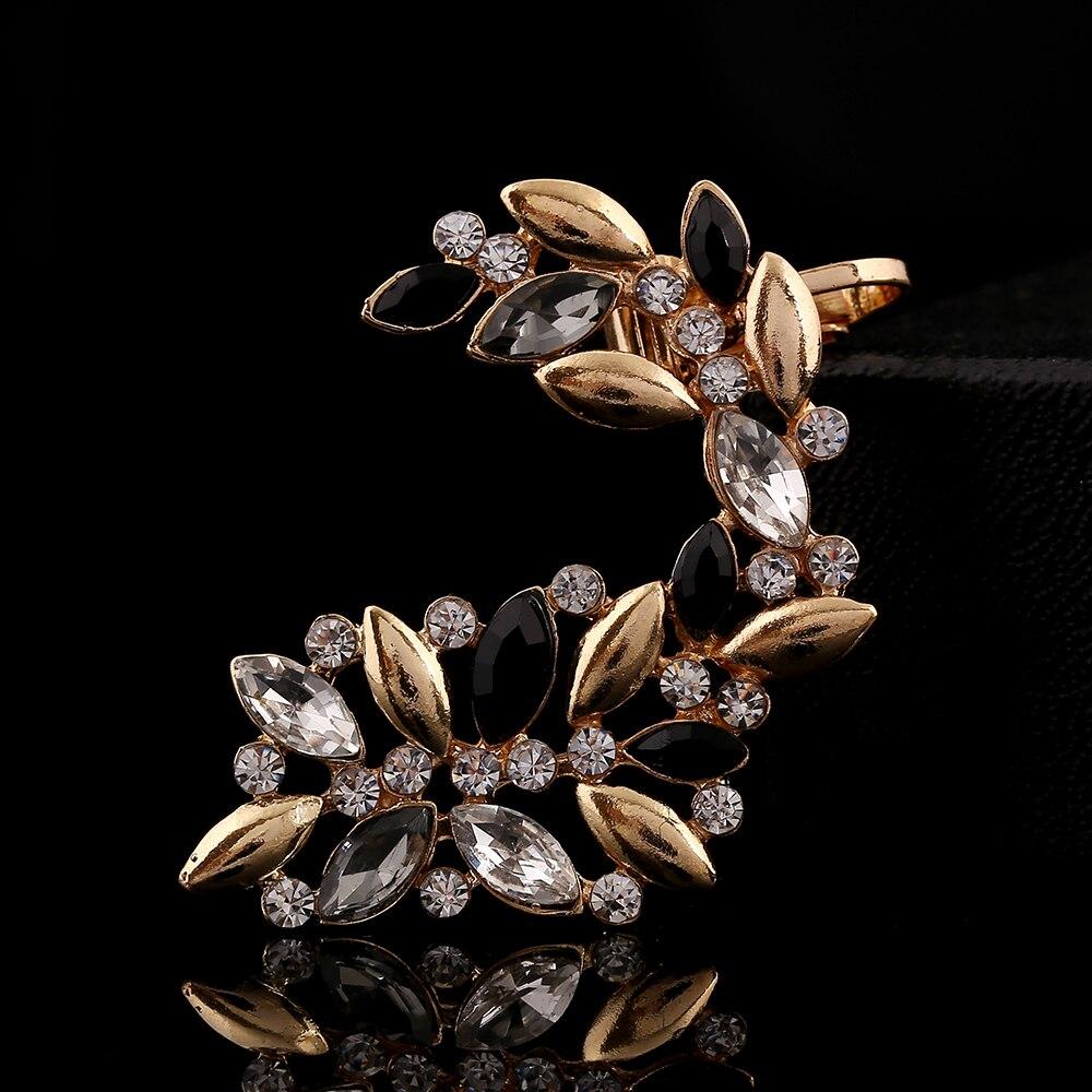 Plaqué Or Cristal Strass Creux Fleur Grand Cercle Boucles D/'oreilles Bijoux Clous