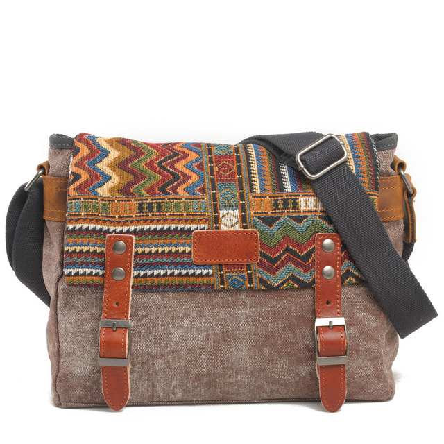 Canvas Messenger Bag Women Chinese Style Shoulder Bag Female Casual Bag Crossbody Bag 2