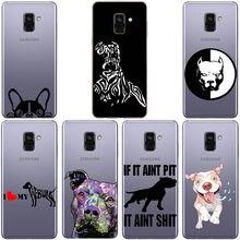 Pit bull adorável cão pet pitbull transparente macio silicone caso para samsung s6 s7 dege s8 s9 s10plus s20 s20ultra