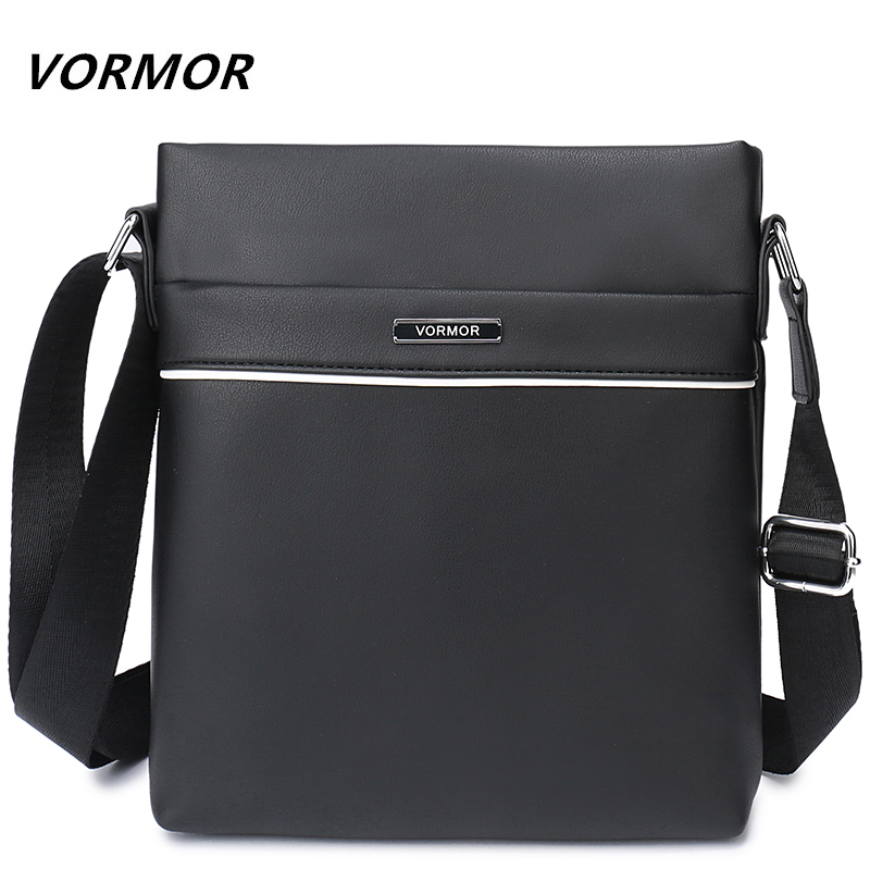 VORMOR Brand Leather Men Bag Casual Business Leather Mens Messenger Bag Vintage Mens Crossbody Bag bolsas male
