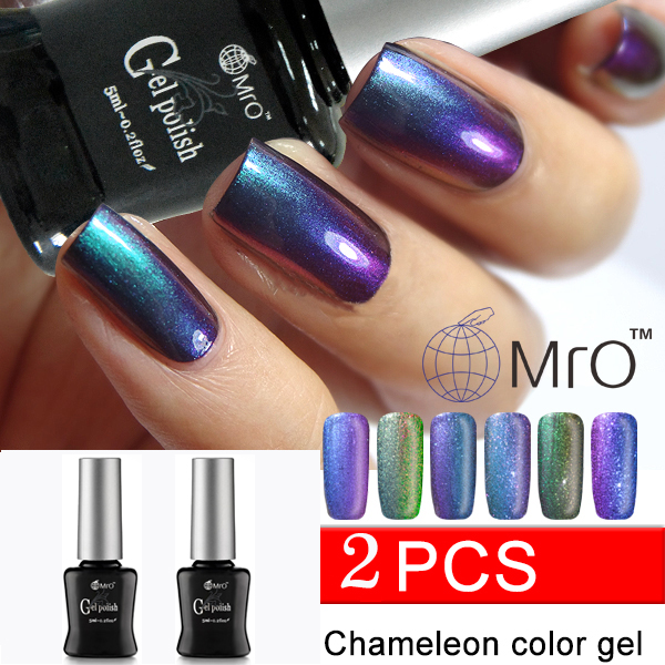 MRO 2 pieces/lot 2017 new color uv Gel nail chameleon varnish nails ...