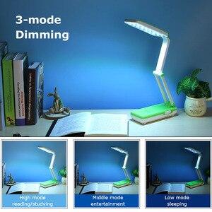 Image 3 - Yage 5913C ledデスクランプの夜の光テーブルランプ読書デスクライトusb折りたたみ 3 層ボディ柔軟なランペled局