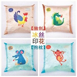 Image 2 - Casa têxtil simples impressão travesseiro, núcleo de algodão, linho, pelúcia, almofada criativa, presente travesseiro, logotipo padrão personalização