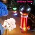 Micro mini bobina de tesla pequena bobina de tesla incrível piscando gerador diy kits de ensino experimento