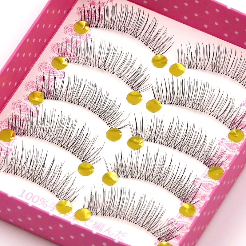 YOKPN Seamless Handmade Transparent Stems False Eyelashes Short Natural Criss Cross Fake Eyelashes Beauty Makeup Lashes