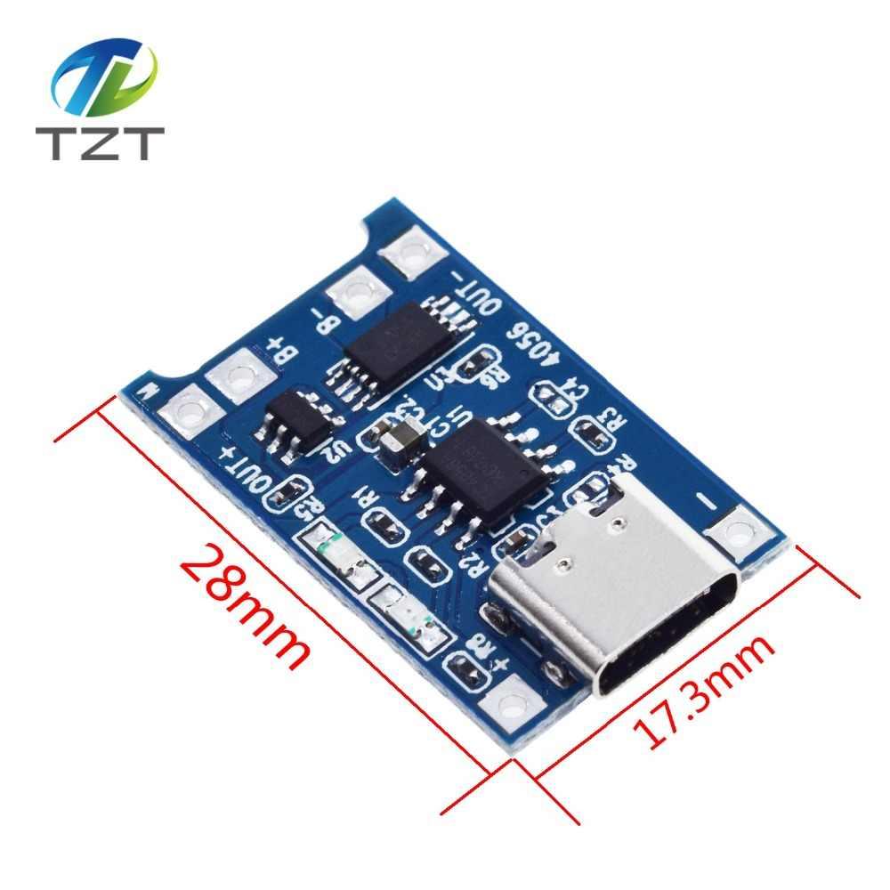 Tzt Loại C/Micro USB 5V 1A 18650 TP4056 Sạc Pin Lithium Mô Đun Bo Mạch Sạc Với Bảo Vệ hai Chức Năng 1A Li-ion