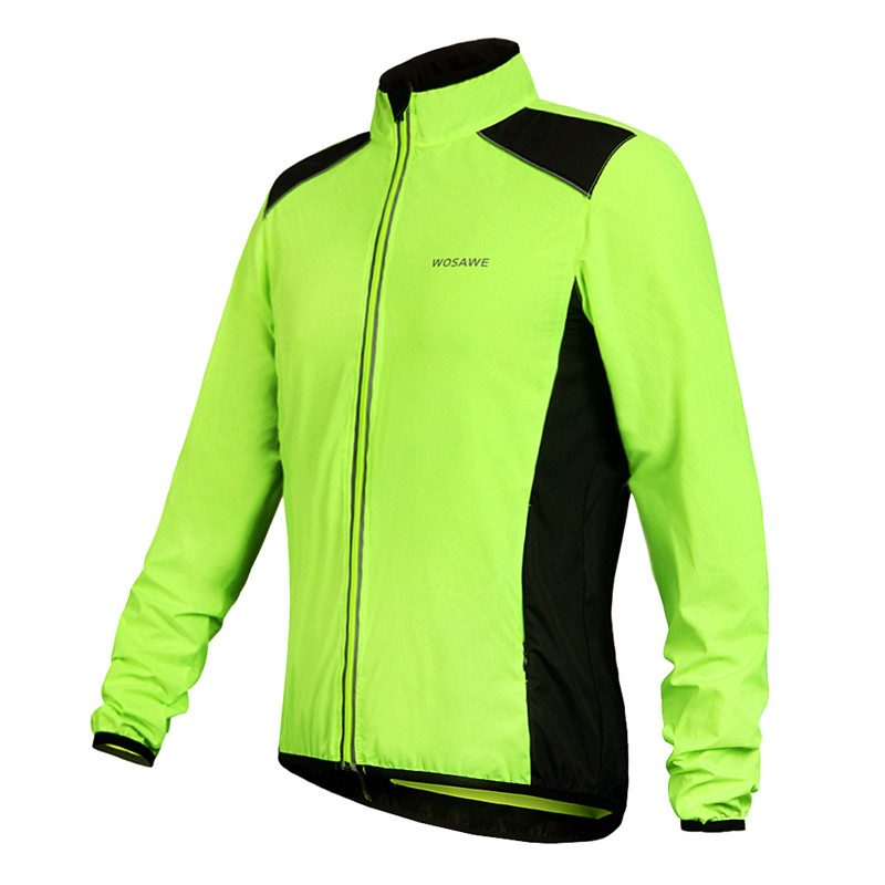 WOSAWE 2015 Men Cycling Jacket Windproof Outdoor Sports Clothing Motocross Bike Rain Jackets Long Sleeve Cycling Jersey