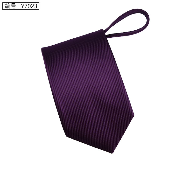 New 7cm Zipper Men Ties Business Fashion Style Slim Men Neck Tie Simplicity Design Solid Color For Party Lazy Formal Ties 9