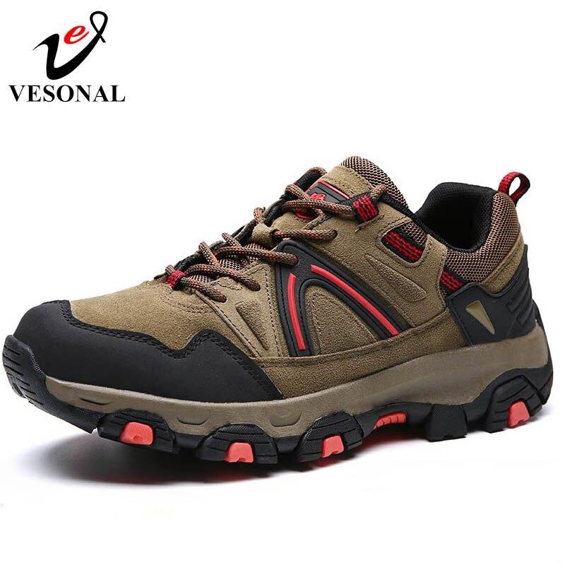 verde Camoscio uomo Autunno antistress nero Sneakers Brand marrone Scarpe Camminare Grigio Patchwork Casual Sicurezza Inverno per maschili Vesonal ZOnUzBn