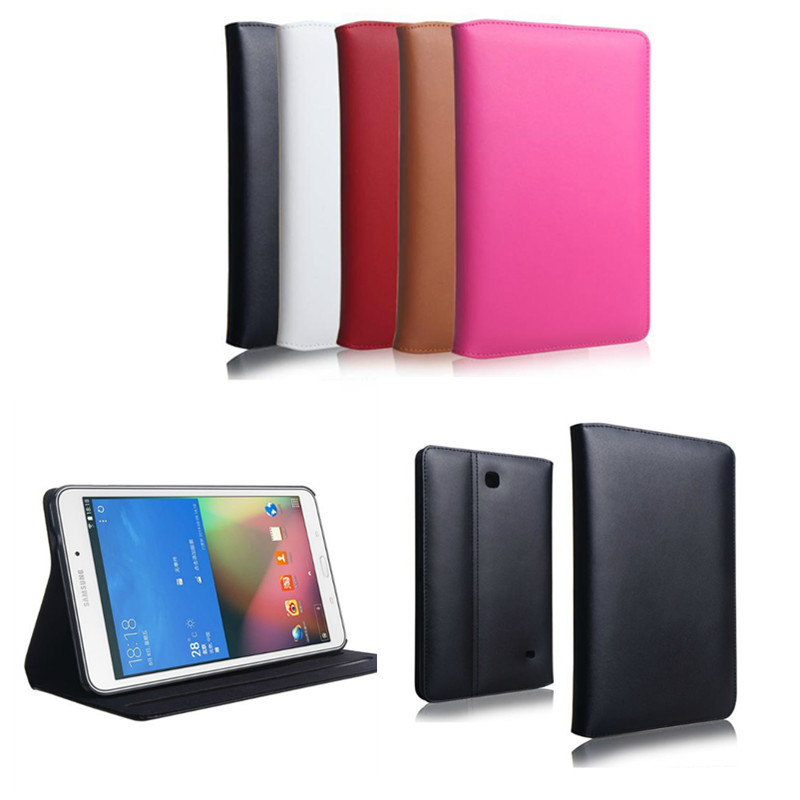 Flip Genuine Leather+Plastic Shell Stand Book Cover Case For Samsung Galaxy tab4 Tab 4 8.0 inch T330 T331 T335 tablet Cases