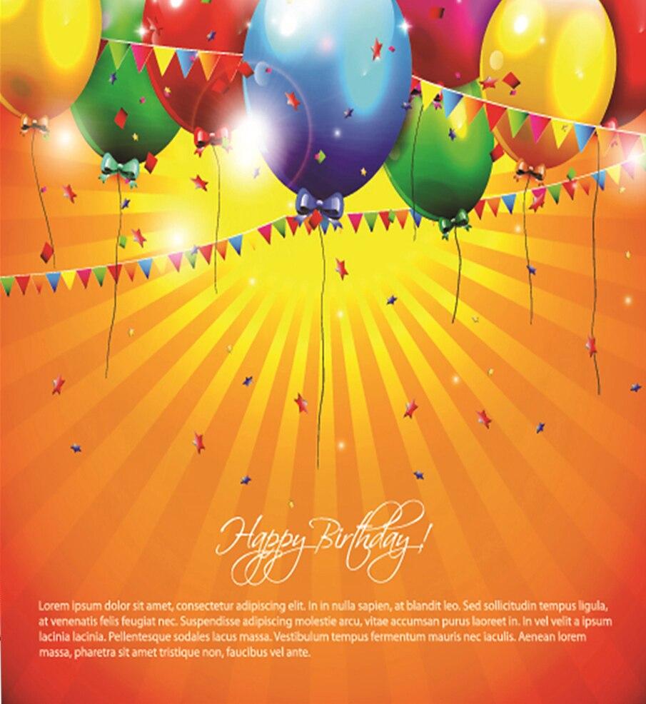 Happy Birthday Colorful Balloons Photo Studio Background