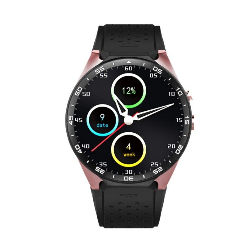 Oro ronda de negocios android gps smart watch mtk6580 cpu 1.39 pulgadas de panta