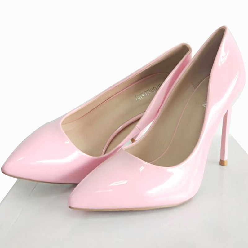 59889253540 High Heels Women Pumps Stiletto Thin Heel Women's Shoes Nude Pointed Toe  High Heels Wedding Shoes size 33-43