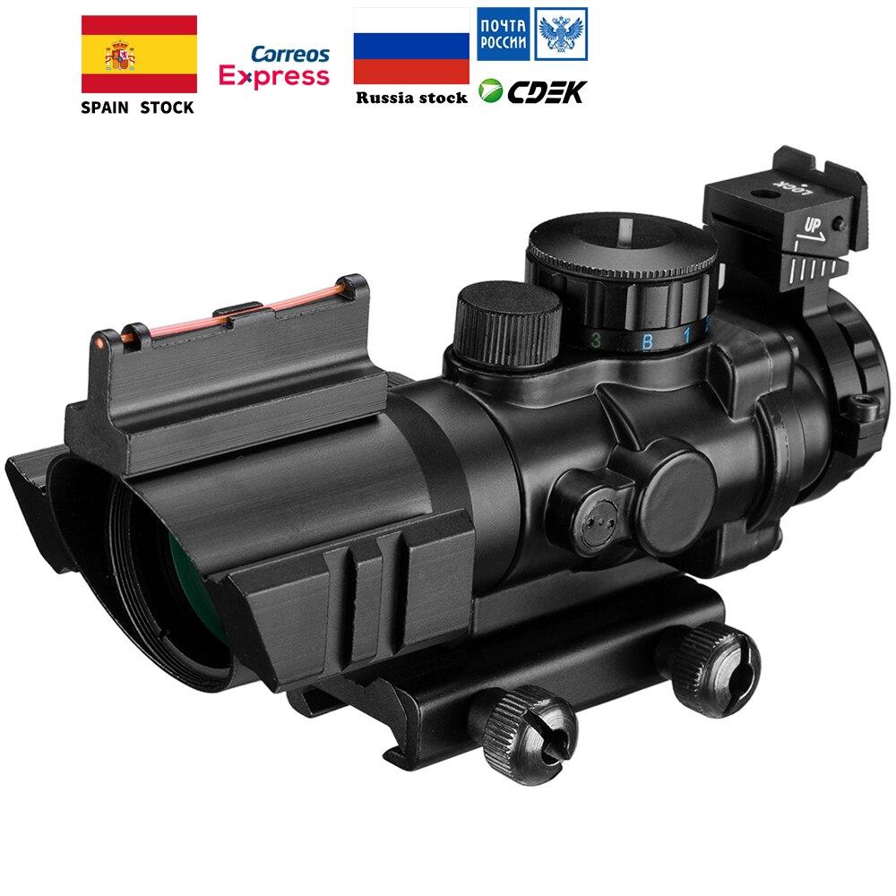 4x32 Acog lunette de visée 20mm queue d'aronde Reflex optique portée tactique vue pour chasse fusil fusil Airsoft Sniper loupe Air Soft