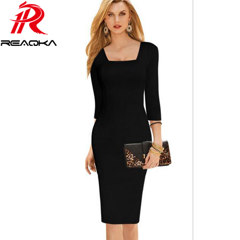 ea82c3af653 Casual Fashion Business Office Lady Dresses For Women 2018 Vintage Bodycon Slim  Ruched Pencil Party Evening