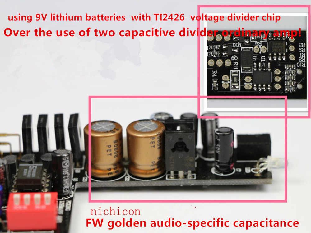 DC9V 1A PH-03 ampli Portable/petit groupe ampli/peut pousser AKG701 HD650/noir et bleu