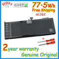 Genuino batería a1382 batería para apple macbook pro 15 ''a1286 mc721 mc723 mb985 mb986 a1321 77.5wh 10.95 v baterías