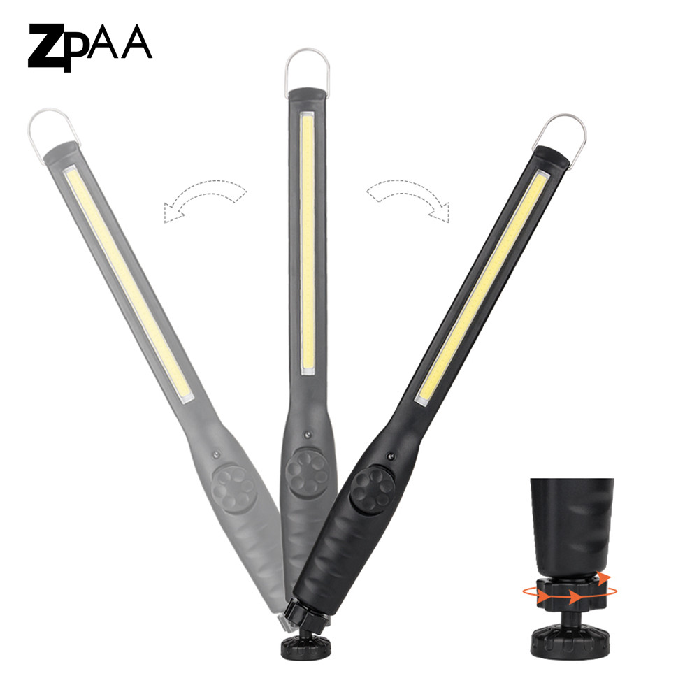 LED Work Light Rechargeable Magnetic Work Lamp Portable COB LED Flashlight Stand Hanging Torch Lamp built-in battery + USB Cable portable 5 mode cob flashlight torch usb rechargeable led work light magnetic cob lanterna hanging tent lamp built in battery