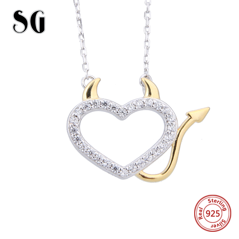 925Silver Heart Dog Paw Pendant Necklace Charm Floating Chain Jewelry Gift Party