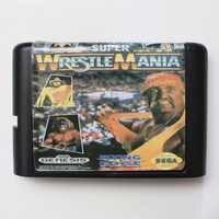 WWF Super Wrestle Mania 16 bit MD Spiel Karte Für Sega Mega Drive Für Genesis