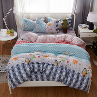 Butterfly flower Fashion Pink blue white Bedding Set Comforter Duvet Cover Active Printing Set Bed Linen Good quality