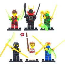 6pcs lot Phantom Ninja Mini Figure movie Super Hero Kid Baby Toy Building Blocks Toys Minifigures