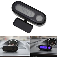2 In 1 Car Digital   Clock   Automobile Watch Automotive Auto Thermometer Hygrometer Decoration Ornament   Clock   In Car-Styling