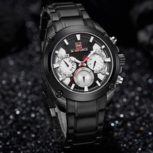 NAVIFORCE Watch Men Military Sport Waterproof Quartz Wristwatch Male Luxury Brand Business Clock Mens Watches Relogio Masculino creative brand men watch steel luxury quartz business wristwatch waterproof clock military sport male watches relogio montre