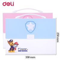 Deli Cute Paw Patrol A4 Expanding Wallet With Sticker For School Kid Office File Document Organizer