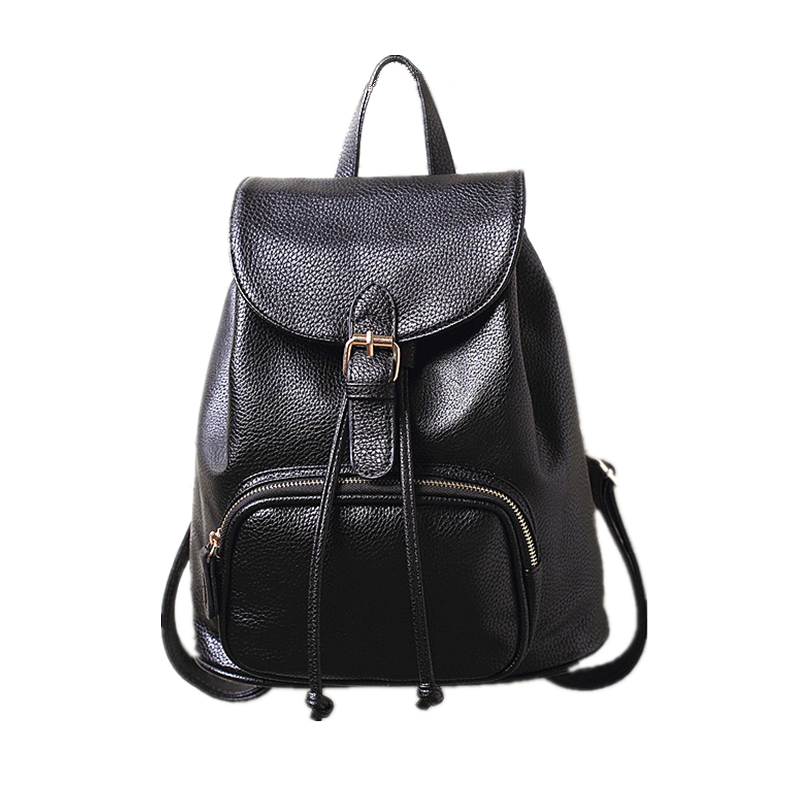2017 The New Kanken Classic Women Real Leather Backpack Lady Genuine Leather Backpacks Leather School Bag Mochila Free Shipping free shipping classic women palm springs backpack bag fashion brand canvas real leather bagsa