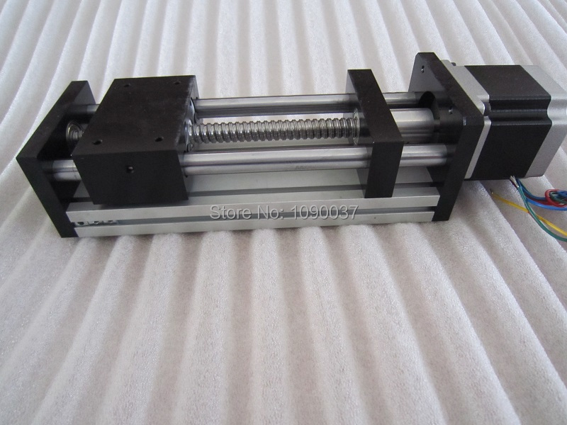 GGP 1610 100mm ball screw Sliding Table effective stroke Guide Rail XYZ axis Linear motion+1pc nema 23 stepper motor ggp 1610 200mm ball screw linear slide modules 1pc nema 17 stepper motor stage