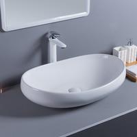 Nordic personality large size wash basin oval moon boat shaped wash basin above counter basin wash wash basin LO612422