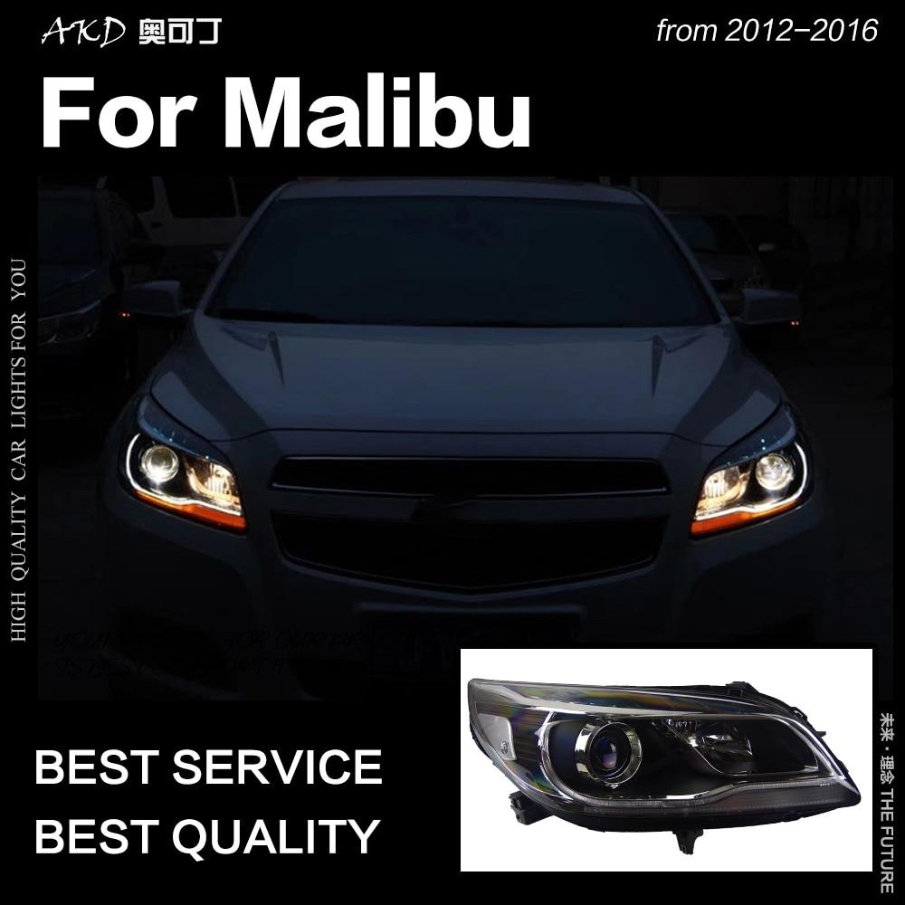 AKD Car Styling Head Lamp for Chevrolet Malibu Headlights 2012 2016 Malibu LED Headlight DRL Hid