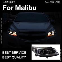 AKD автомобильный Стайлинг Головной фонарь для Chevrolet Malibu фары 2012- Malibu светодиодный DRL Hid Bi Xenon автомобильные аксессуары