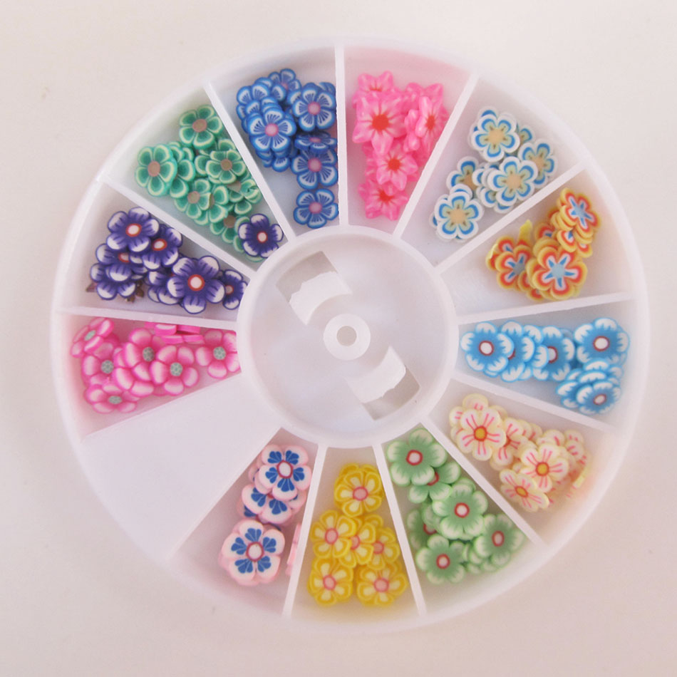 ₩Factary Direct Selling Colorful 3d Fimo Flower Nail Art Wheel New ...