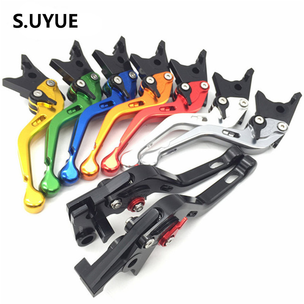 Short Clutch Brake Levers For Kawasaki Z750 2004 2005 2006 CNC Adjustable 8 Colors Pair 6 colors cnc adjustable motorcycle brake clutch levers for yamaha yzf r6 yzfr6 1999 2004 2005 2016 2017 logo yzf r6 lever