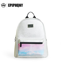 Epiphqny Brand Leather Backpacks Korean Travel Women Backpack College Wind Print High Quality Fashion Design Packbag