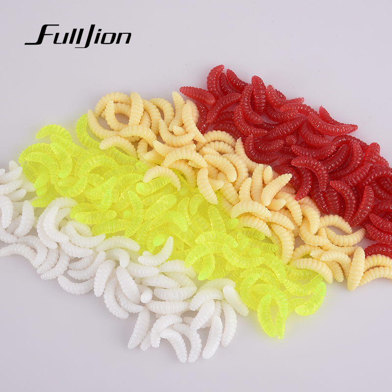 Fishing Lures Soft Lure Baits Smell Worms Glow Shrimps Tackle Soft Baits Lifelike Fishy Smell Lures 2cm 0.3g 10pcs/lot