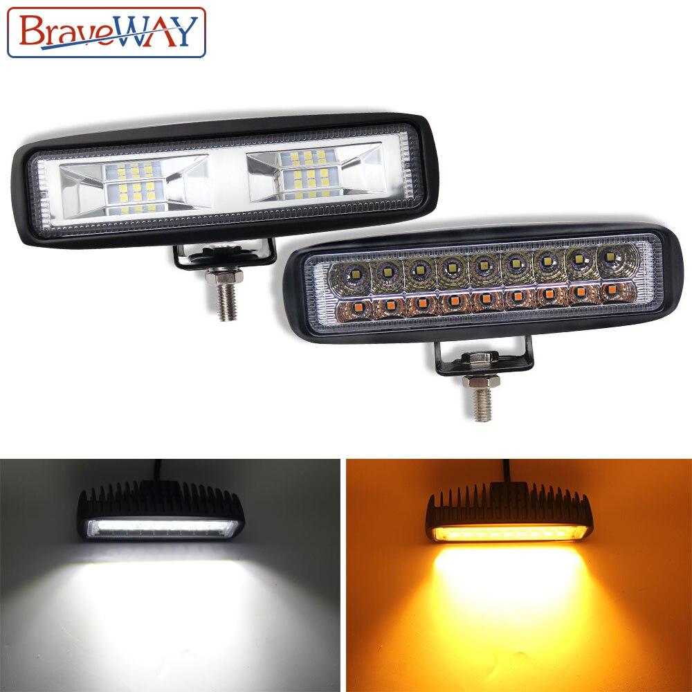 BraveWay 36W Off Road LED DRL Daytime Running Light Fog Lamp LED Work Light 12V Headlight for UTV ATV Truck Motorcycle Offroad|Light Bar/Work Light| |  - title=