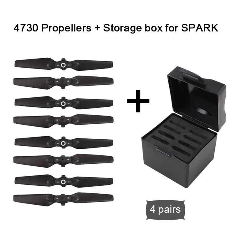 162c5aecacc3 Sunnylife DJI Spark Drone accesorios 4730 plegable compuesto de la hélice de  liberación rápida de cuchillas accesorios + caja de almacenamiento  protección ...