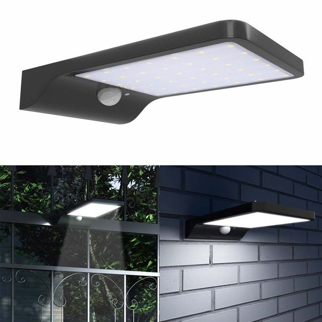 Outdoor Led Solar With Motion Sensor Lights Wireless Waterproof Exterior Security Light For Yard Garden