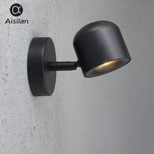 Aisilan Бра в современном стиле настенный свет Регулируемый черный/белый 7 W для Спальня фойе зеркало свет коридор балкон AC90-220V