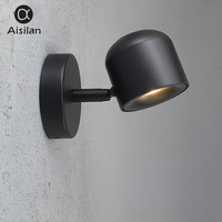 Aisilan Wall Lamp Modern Style Wall light Adjustable Black/White 7W AC90 220V for Bed Room Foyer Kitchen Corridor Balcony