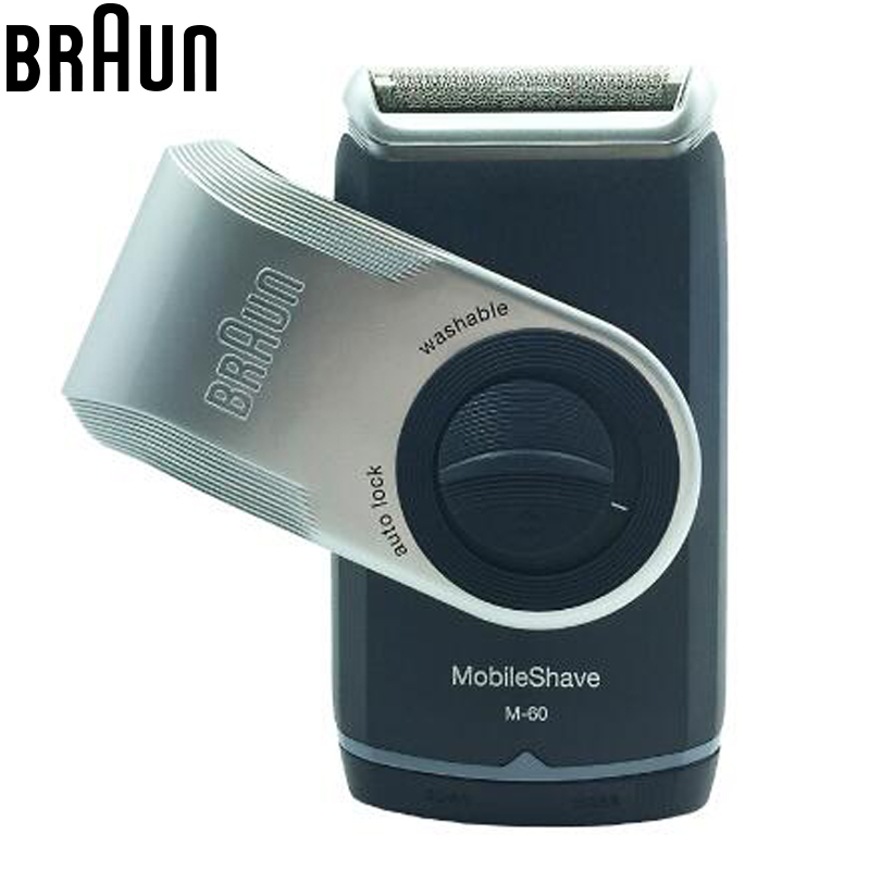 Braun Electric Razor Shavers M60 Mobile Shave Portable Washable Safety Power Beard Shaving & Hair Removal For Men Face Care