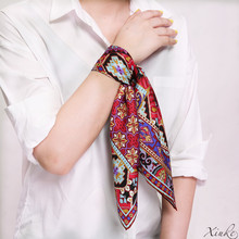 new fashion 100% silk women Square scarf,Material:twill silk, size:52x52,Thickness 12mm  2 colors red