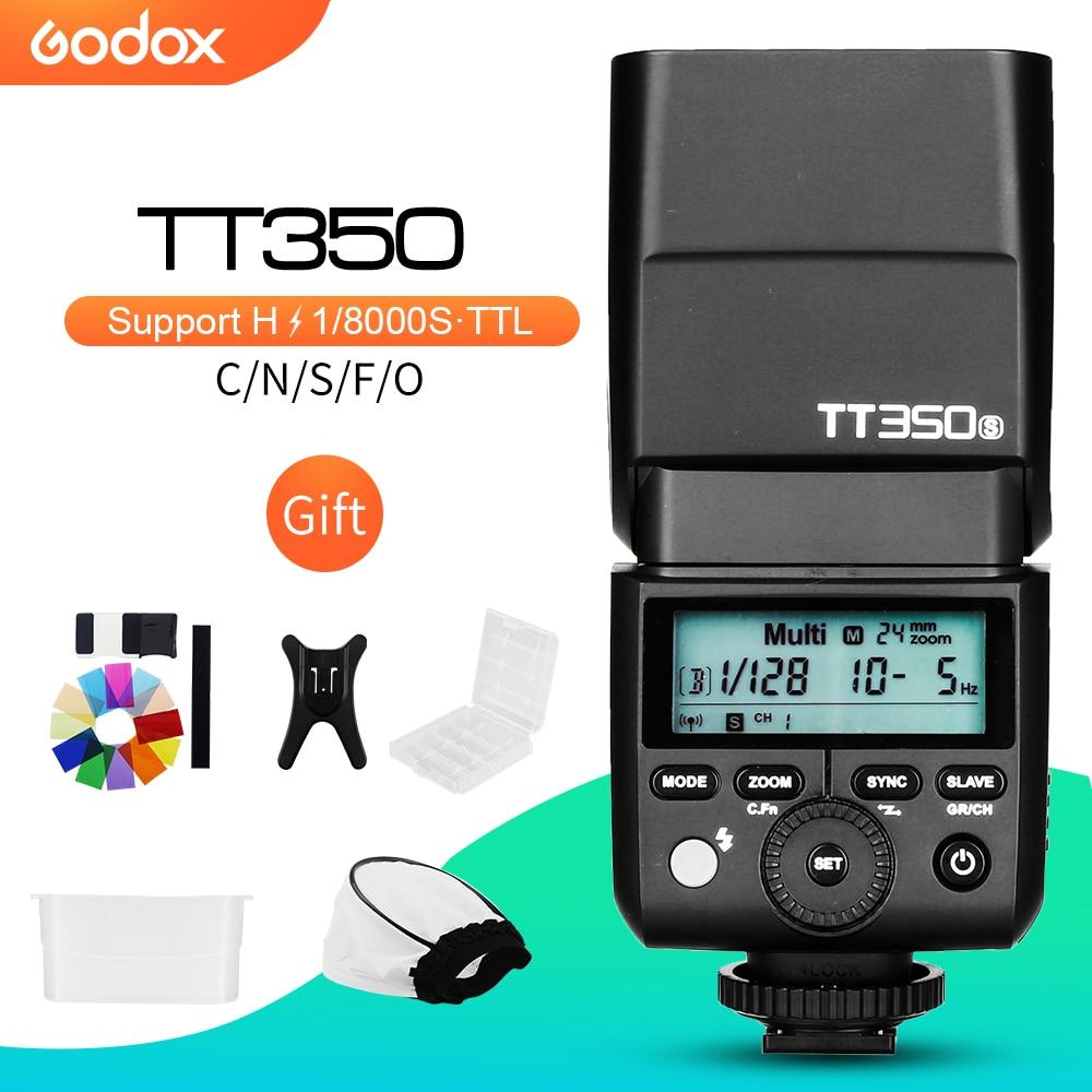 Godox Mini Speedlite TT350C TT350N TT350S TT350F TT350O TT350P Cámara Flash TTL HSS para Canon Nikon Sony Fuji Olympus Pentax