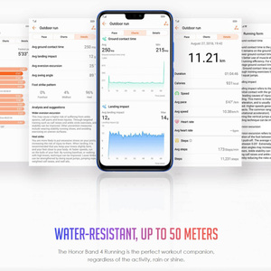 Image 3 - Original Huawei Honor Band 4 Running Version Smart Wristband Shoe Buckle Land Impact Sleep Snap Monitor